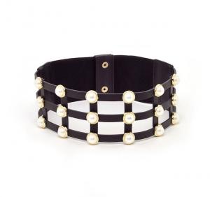 Cintura Lauren alta con perle Nalì