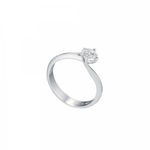Anello Donna Solitario Oro 18kt ct.0,08 Prestige - Main view - small