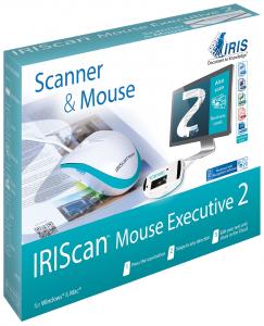 I.R.I.S. IRISCan Mouse Executive 2 400 x 400 DPI Scanner per mouse Blu, Bianco A3