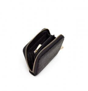 Portafoglio mini Kendal nero effetto pitone Nalì