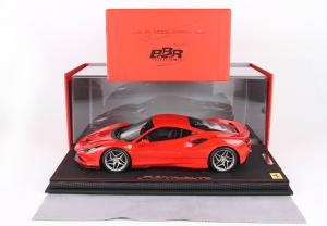 Ferrari F8 Tributo Geneve 2019 Rosso Scuderia With Case Ltd 488 Pcs 1/18 BBR