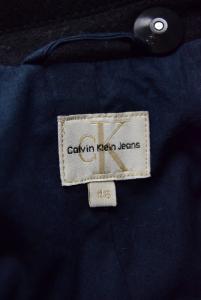 Cappotto Uomo Nero Calvin Klein Jeans Originale In Lana Taglia 46