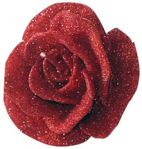 Candela fiore rosa rossa