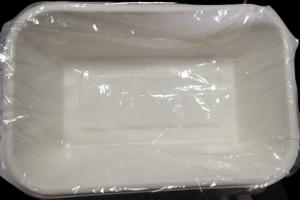 CONTENITORE RETTANGOLARE DA ASPORTO COMPOSTABILE ML 950 CM 21X14X5H (50PZ)
