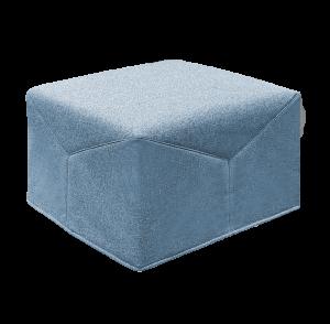 Pouf Letto Singolo con materasso Waterfoam alto 10 cm, tessuto Pouf poggiapiedi, Ottomano, elegante tessuto Sfoderabile e Lavabile | IRIS