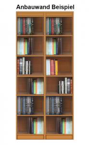 Bücherregal offene Fächer aus Holz