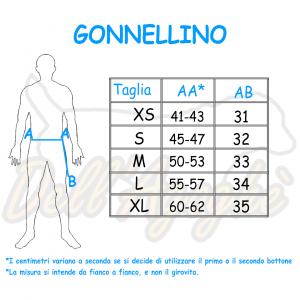 Gonnellino addestramento unisex Dell'Agoghè