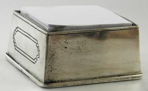 Porta foglietti post-it da scrivania in peltro 11x6 cm