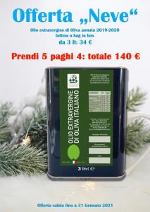 Promozione Olio Extravergine 3lt paghi 4 prendi 5