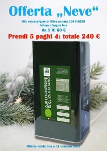 Promozione Olio Extravergine 5lt paghi 4 prendi 5