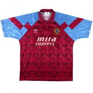 1990-92 Aston Villa Maglia Home XL