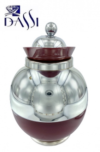 BROCCA THERMOS BIBITE BORDEAUX DA 1 LT IN ARGENTO 800