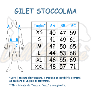 Gilet addestramento unisex mod. Stoccolma, Dell'Agoghè