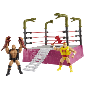 Masters of the WWE Universe: ​​​​Rattlesnake Mountain RING + 2 personaggi esclusivi by Mattel