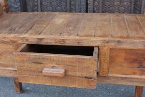Consolle piccola in legno di teak recuperato
