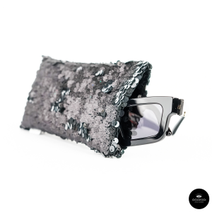 Lunari, PAILLETTES Black mirror glasses case