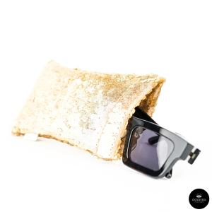 Lunari, PAILLETTES Gold glasses case