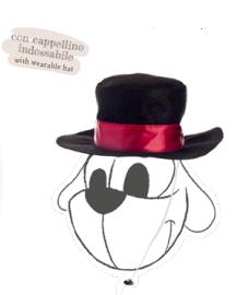 CUCCETTA PUPAZZO DI NEVE con cappellino staccabile Ferribiella