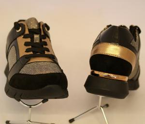 Scarpa autunno inverno sneaker lacci zeppetta DONNA nero MH619765