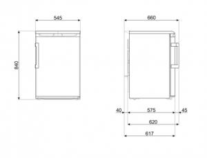 Smeg FA120ES frigorifero con congelatore Sottopiano 114 L A++ Argento