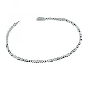 Bracciale tennis Zancan da uomo in argento e pietre nere ESB075
