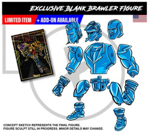 Mighty Maniax action figure: BLANK BRAWLER Prototype by Rocom Toys