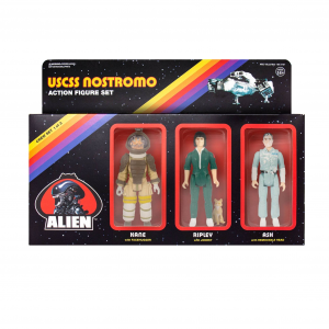 *PREORDER* Alien ReAction Action Figure: PACK A - KANE/RIPLEY/ASH by Super7