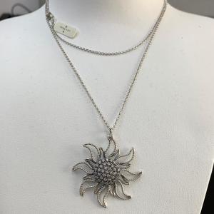 Collana argento 925 con pendente Sole e Zirconi S'Ave Maria