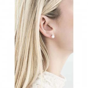 Orecchini in oro bianco con perle e diamante comete gioielli orp543
