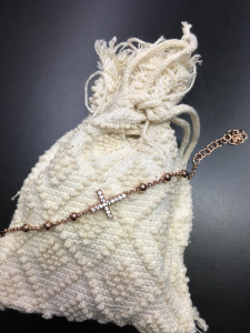 Bracciale in argento s'Ave Maria tipo rosario