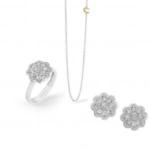 Orecchini donna comete gioielli mille e una notte In Oro bianco 750 ? e diamanti