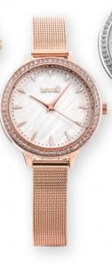 Orologio solo tempo donna Lowell con maglia milano e strass