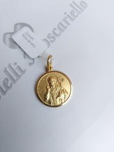 Ciondolo San Nicola in oro giallo 18 kt 750% Pendant yellow gold 18 kt  16/20