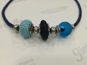 Collana donna Osa cod. 70101 blu con ciondolo perla di murano