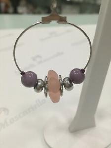 Orecchini donna Osa cod. 70105 glicine con ciondolo perla di murano
