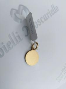 Ciondolo San Francesco in oro giallo 18 kt 750% Pendant yellow gold 18 kt  18/20