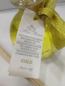 Profumatore con bastoncini Mimì Maison 250 ml Gold 4763