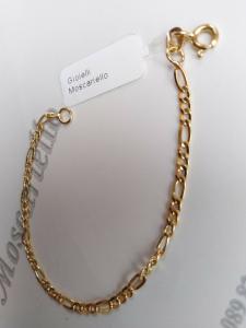 Braccialetto bimbo in oro giallo18 kt 750%   Bracelet yellow gold 36/20