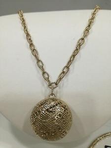 Collana Zoppini in bronzo dorato con ciondolo q1437_0600 listino 74