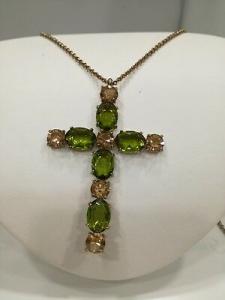 Collana lunga con croce Swarovski in bronzo  Zoppini  listino 69