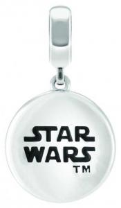 Chamilia Charm in argento Star Wars Imperium Logo incisione sul retro 2020-0935