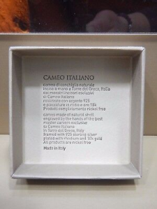 Anello Cameo Italiano Mitho con Cameo Inciso a Mano  Made In Italy A23