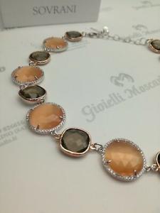 Collana donna Sovrani Cristal Magique in ottone con cristallo fumè cod. J2924