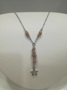 Parure  donna Zoppini Firenze con pendente stella orecchini+collana  listino 98