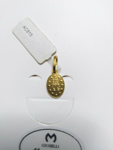 Medaglia miracolosa in oro giallo 18 kt 750%   Pendent Sacred yellow  gold 41/20