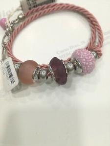 Bracciale donna Osa cod. 70104 rosa con ciondolo perla di murano
