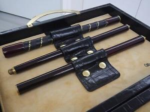 Set golf Renzo Romagnoli cod. 1475CN in pelle crocco Executive Golf putter set