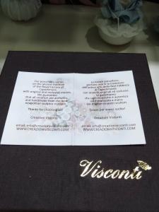 Bomboniera in porcellana Capodimonte Creazioni Visconti Saccottino grande N13B