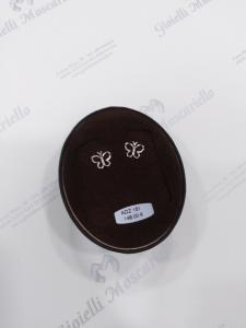 Orecchini in oro bianche farfalline 18kt  750%  Earrings white gold AOZ 151