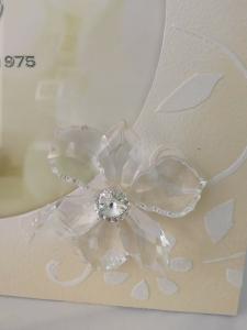 Portafoto Acca laccato  con fiore Swarovski  CF116M.1 LISTINO 106